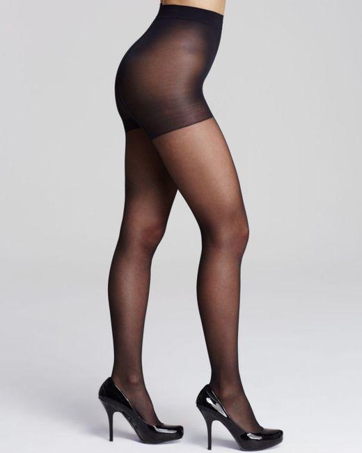 Calvin Klein - Black Active Sheer Control Top Tights - Lyst