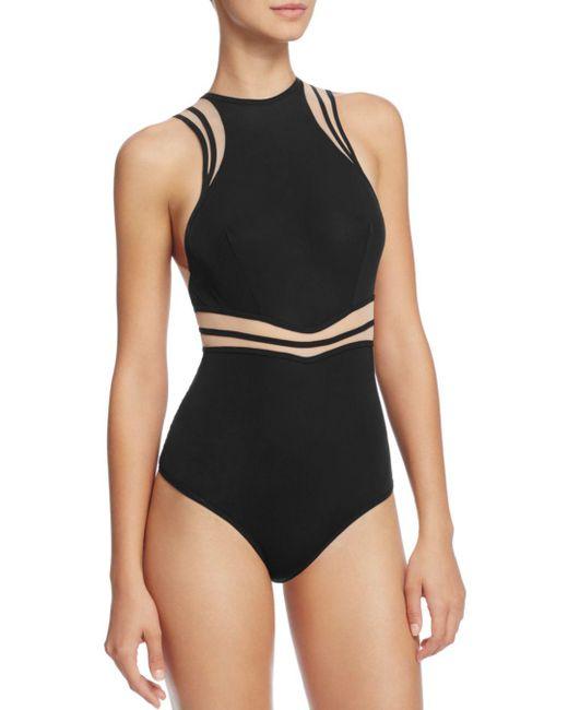 Thistle & Spire - Black Fine Lines Bodysuit - Lyst