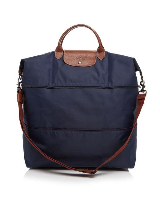 Longchamp | Blue Le Pliage Expandable Travel Duffel Weekender | Lyst