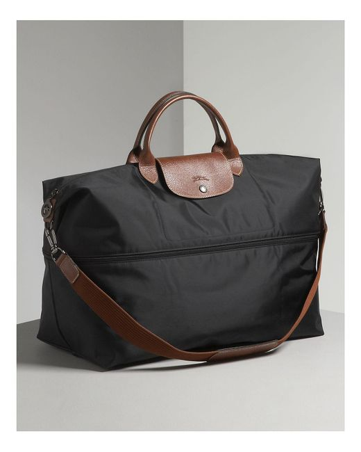 Longchamp - Black Le Pliage Expandable Travel Duffel Weekender - Lyst