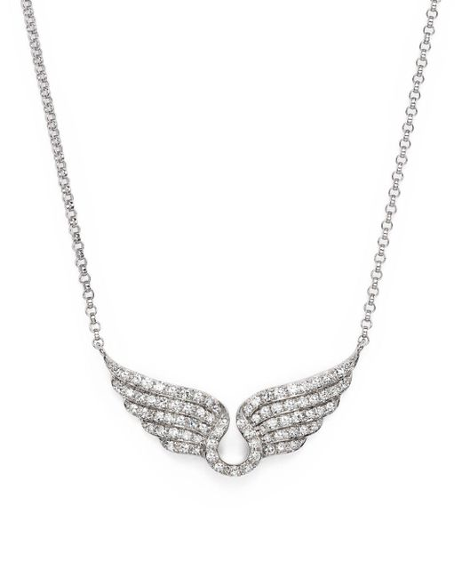 Bloomingdale's - Diamond Wing Necklace In 14k White Gold, .30 Ct. T.w. - Lyst