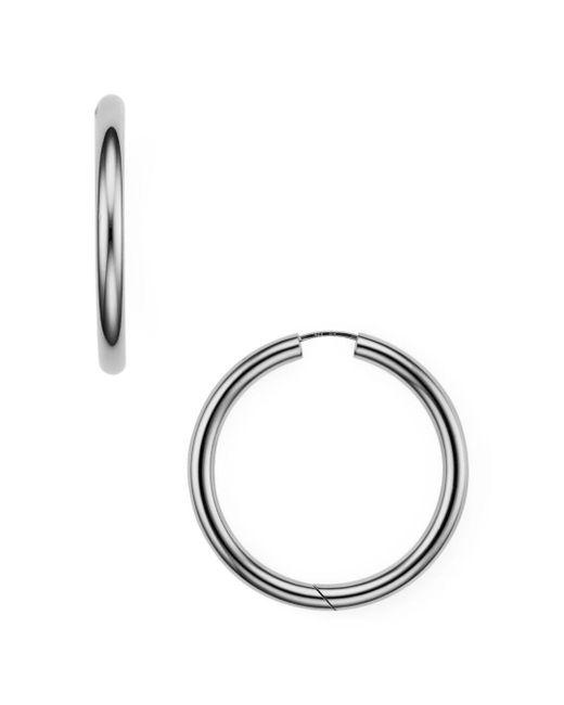 Argento Vivo - Metallic Seamless Hinge Hoop Earrings - Lyst