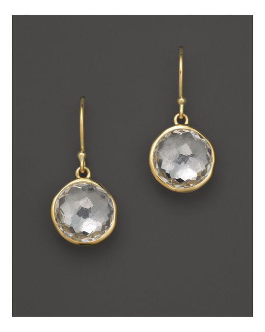 Ippolita | Metallic 18k Yellow Gold Lollipop Earrings In Clear Quartz | Lyst