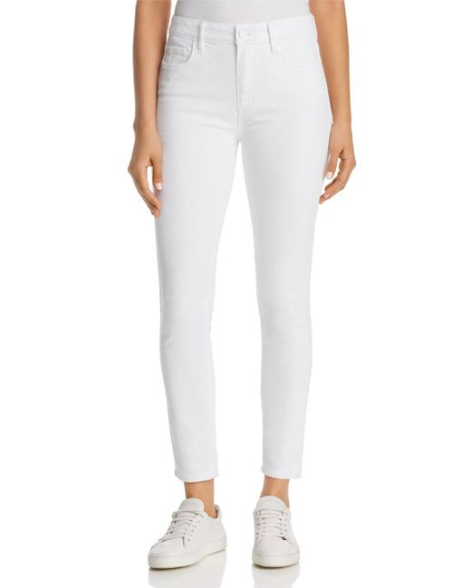 PAIGE - Hoxton Ankle Skinny Jeans In Crisp White - Lyst