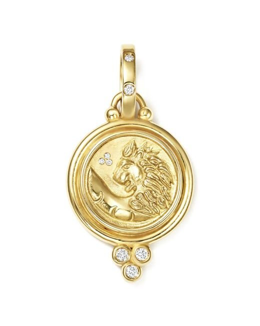 Temple St. Clair - Metallic 18k Yellow Gold Lion Coin Diamond Pendant - Lyst