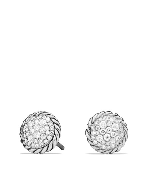 David Yurman | Metallic Châtelaine Pavé Earring With Diamonds | Lyst