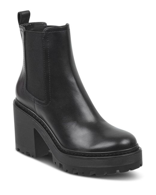 Kendall + Kylie - Black Kendall And Kylie Women's Jett Round Toe Platform Booties - Lyst