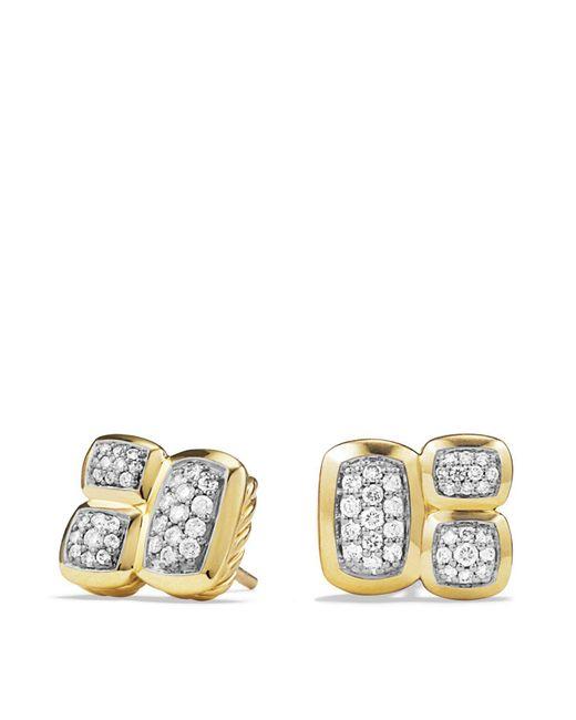 David Yurman | Metallic Confetti Stud Earrings With Diamonds In Gold | Lyst