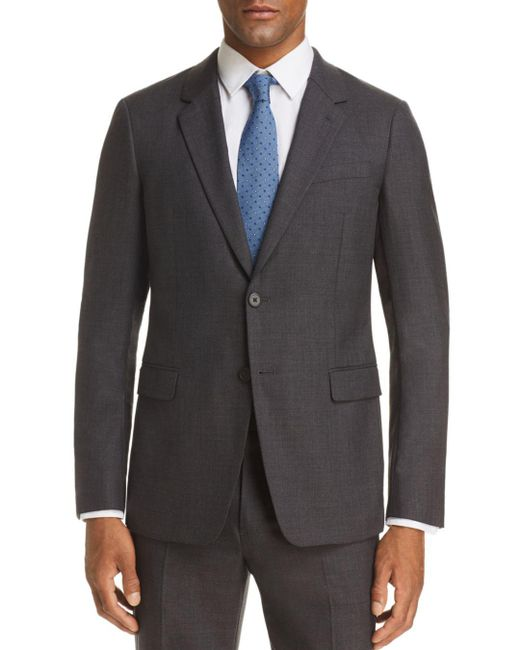 Theory - Gray Chambers Sharkskin Slim Fit Suit Jacket for Men - Lyst