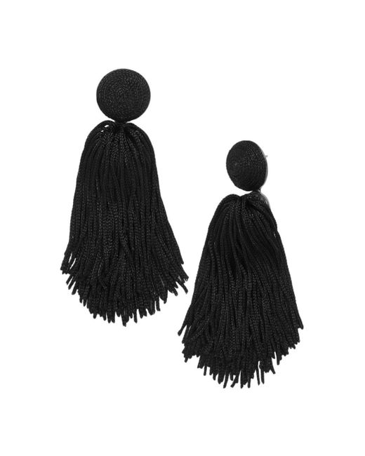 BaubleBar - Black Sonatina Tassel Earrings - Lyst