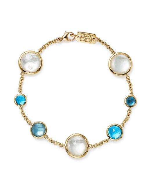 Ippolita | Multicolor 18k Yellow Gold Lollipop 7-stone Chain Bracelet In Raindrop | Lyst