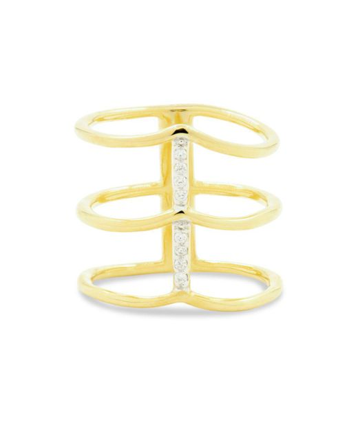 Freida Rothman - Metallic Radiance Caged Ring - Lyst