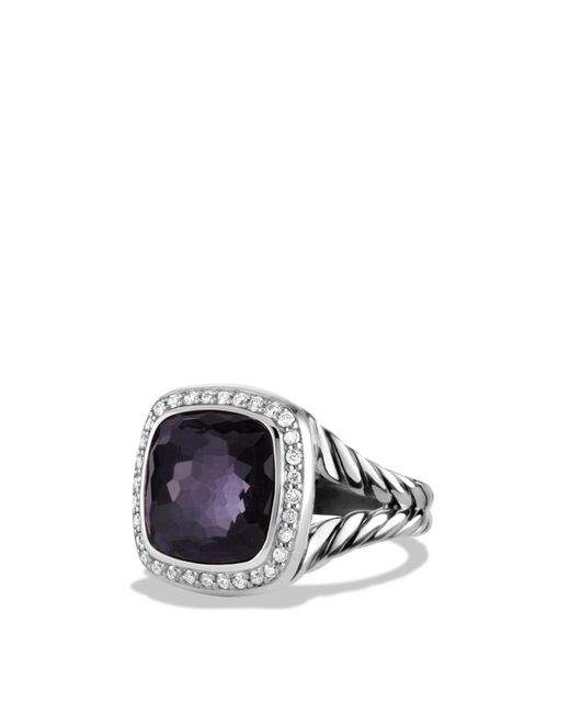 David Yurman | Metallic Albion Ring With Lavender Amethyst And Diamonds | Lyst