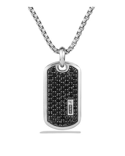 David Yurman | Metallic Pavé Tag With Black Diamonds for Men | Lyst