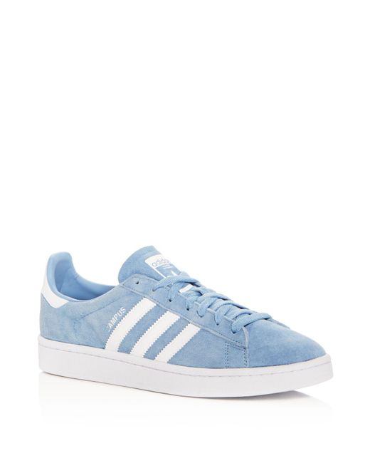 Adidas - Blue Men's Campus Suede Lace Up Sneakers for Men - Lyst