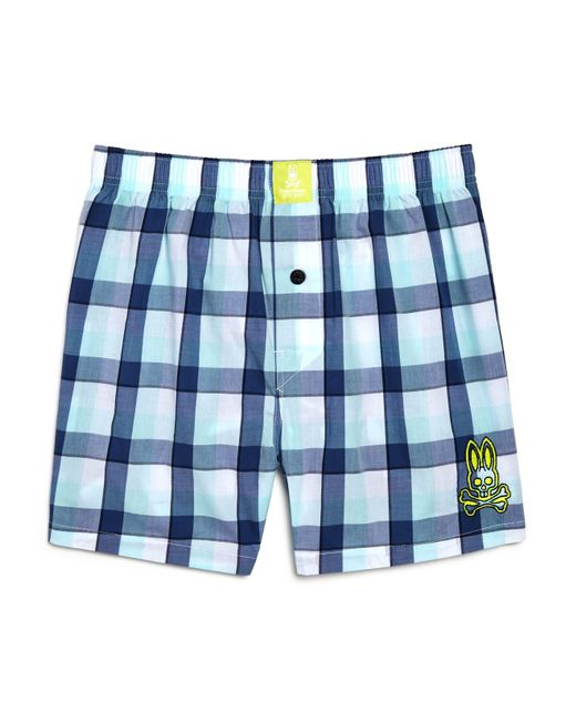 Psycho Bunny - Blue Woven Boxers for Men - Lyst