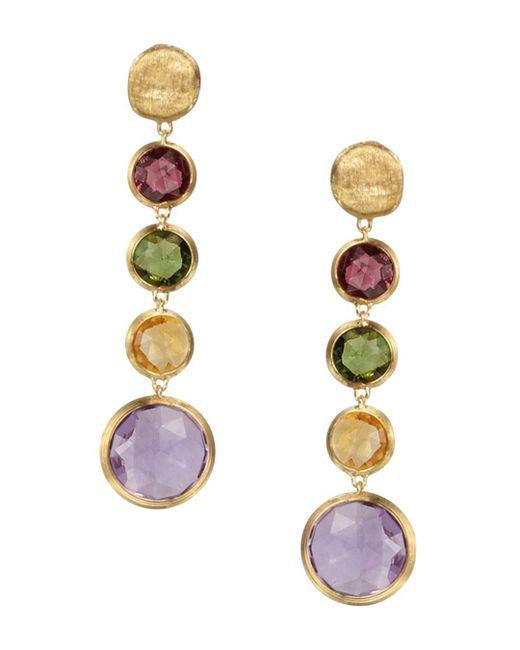 Marco Bicego - Metallic Jaipur 18k Yellow Gold And Multi-stone Drop Earrings - Lyst