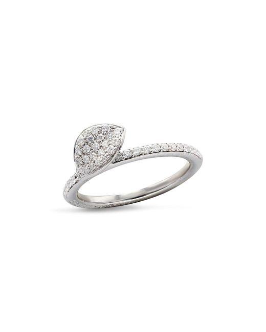 Pasquale Bruni | 18k White Gold Secret Garden Single Petal Pavé Diamond Ring | Lyst