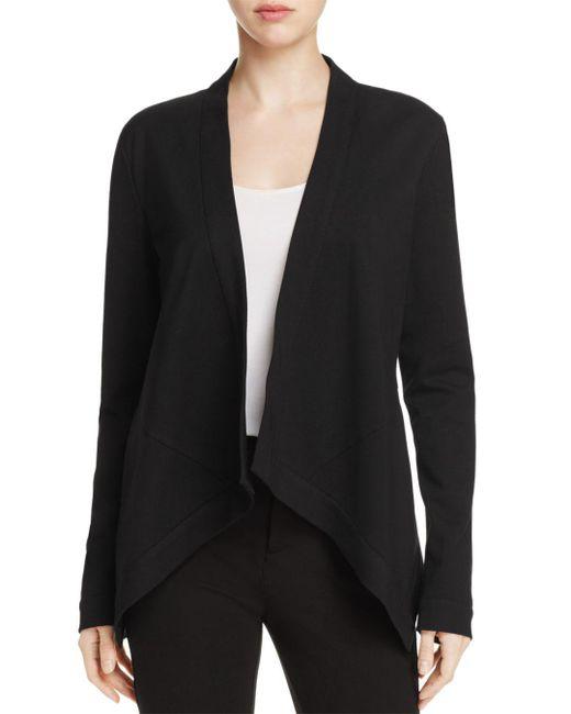 Donna Karan - Black Flyaway Open Front Jacket - Lyst