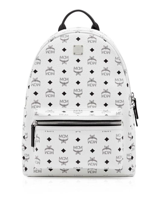 MCM - White Visetos Medium Stark Backpack for Men - Lyst
