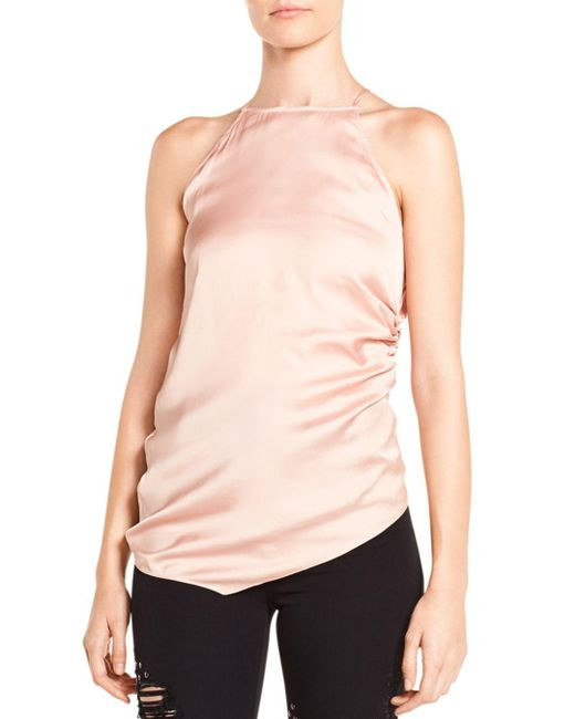 Haute Hippie - Pink I Wished For You Ruched Asymmetric Top - Lyst