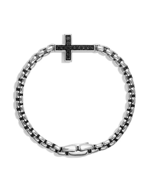David Yurman - Metallic Pavé Cross Bracelet With Black Diamonds for Men - Lyst