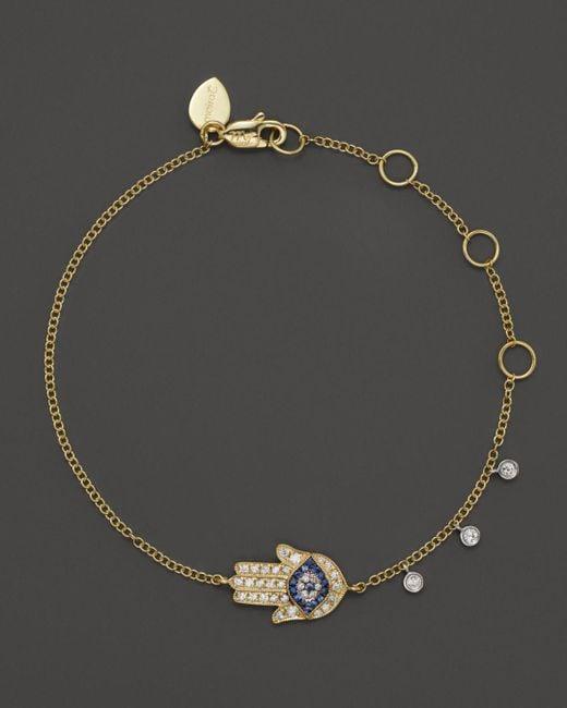 Meira T - Metallic 14k Yellow Gold Hamsa Bracelet - Lyst