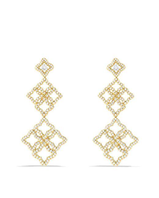David Yurman | Metallic Venetian Quatrefoil Cluster Earrings With Diamonds In Gold | Lyst
