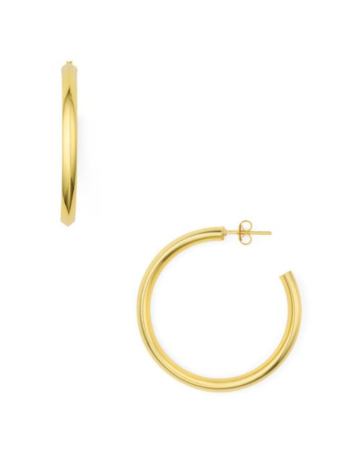 Argento Vivo - Metallic Point Hoop Earrings - Lyst