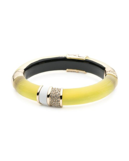 Alexis Bittar | Yellow Lucite Hinge Bangle | Lyst