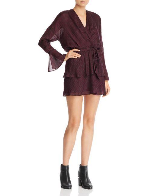 Joie - Purple Marcel Houndstooth Mini Dress - Lyst