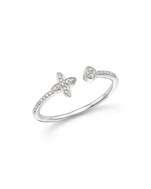 KC Designs - 14k White Gold Diamond Open Stacking Ring - Lyst