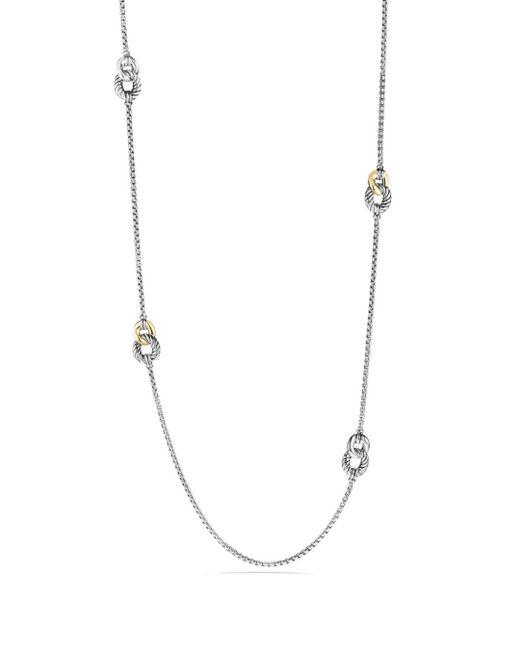 David Yurman - Metallic Belmont Four Station Necklace With 18k Gold - Lyst