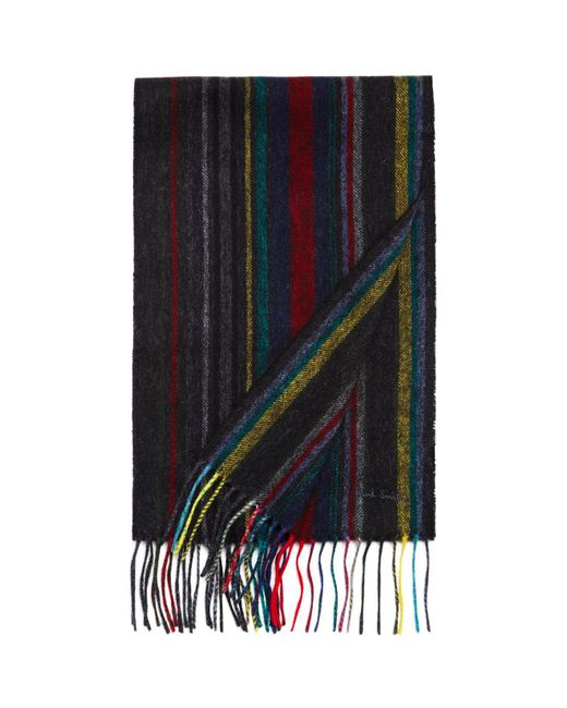 Paul Smith | Blue Striped Wool Scarf for Men | Lyst