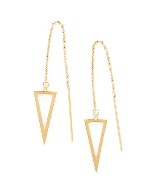Rebecca Minkoff - Metallic Triangle Threader Earrings - Lyst