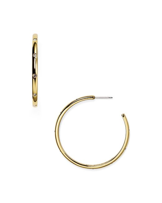 Kate Spade | Metallic Infinity And Beyond Hoop Earrings | Lyst