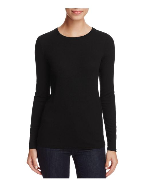 Eileen Fisher | Black Long Sleeve Slim Top | Lyst