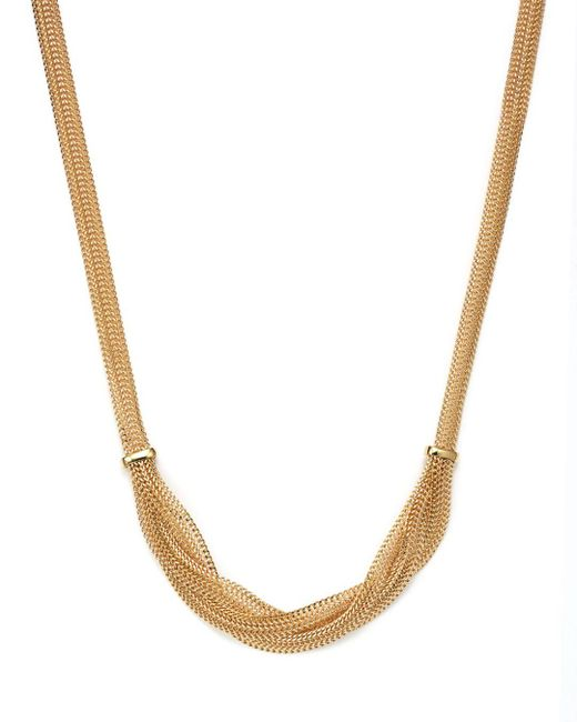 Bloomingdale's - Metallic 14k Yellow Gold Braided Mesh Necklace - Lyst