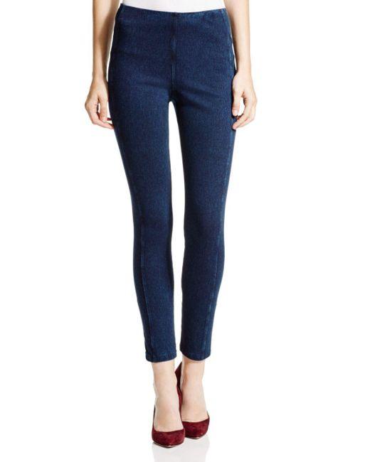 Lyssé - Blue Stretch Denim Zip Leggings - Lyst