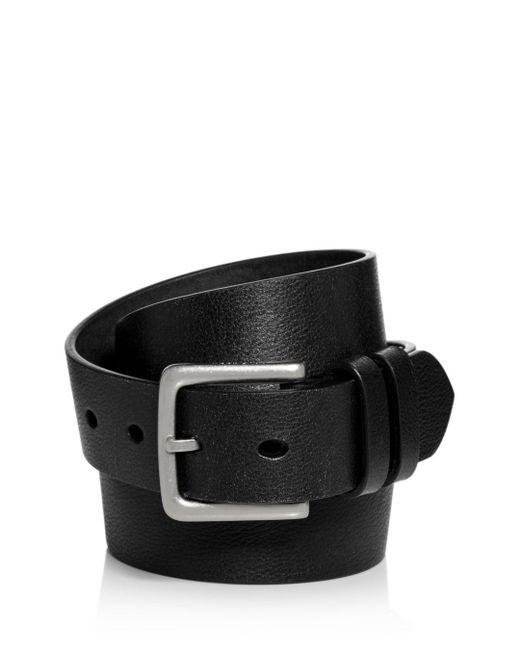 Cole Haan - Black Distressed Leather Belt for Men - Lyst