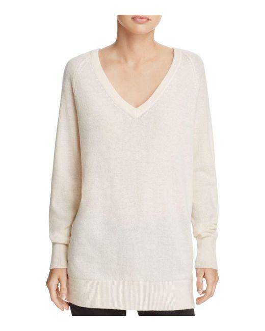 Equipment   White Asher V-neck Cashmere Sweater   Lyst