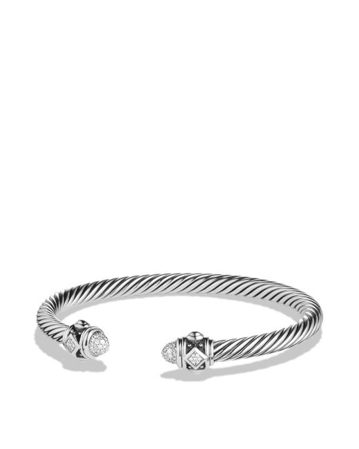 David Yurman | White Renaissance Bracelet With Diamonds | Lyst