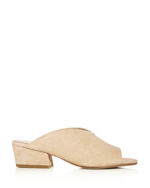 53117adbf5f1 ... Eileen Fisher - Multicolor Women s Katniss Nubuck Leather Block Heel  Slide Sandals ...