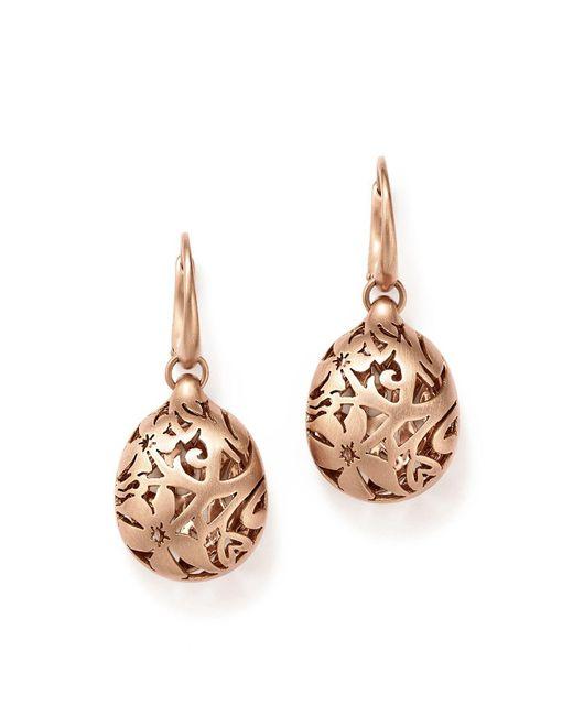 Pomellato | Pink Arabesque Earrings In 18k Matte Rose Gold | Lyst