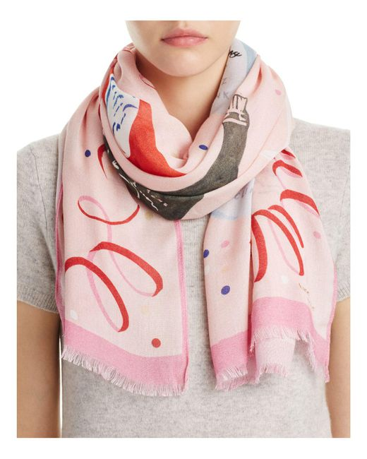 Kate Spade   Pink Champagne Oblong Scarf   Lyst