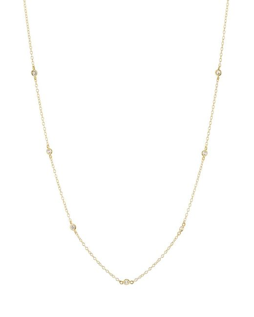 Aqua - Metallic Sterling Silver Thin Chain Necklace - Lyst