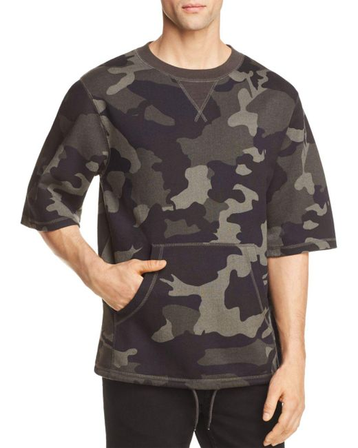 Wesc - Gray Madison Camouflage Short Sleeve Sweatshirt for Men - Lyst