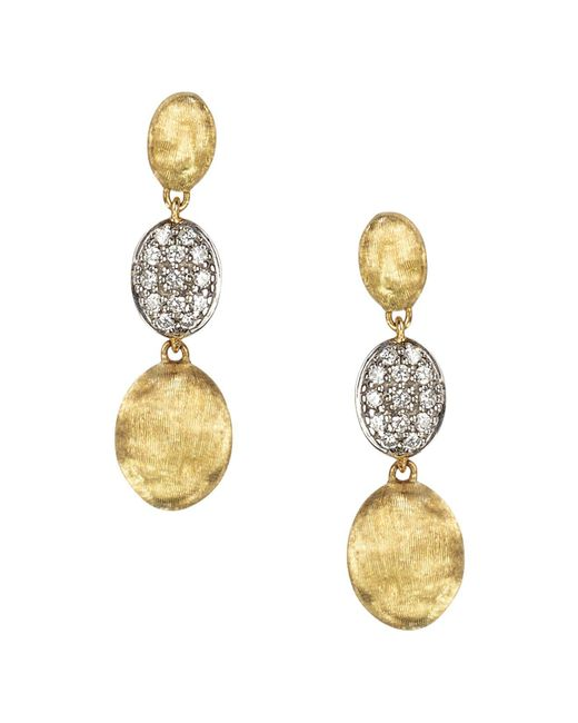 Marco Bicego | Metallic Diamond Siviglia Earrings In 18k Yellow Gold | Lyst