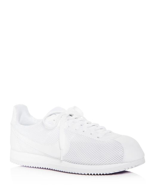 Nike - White Women's Classic Cortez Mesh Lace Up Sneakers - Lyst