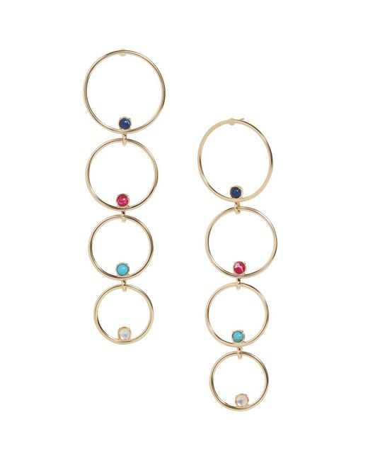 BaubleBar - Metallic Lucienne Multi-hoop Drop Earrings - Lyst